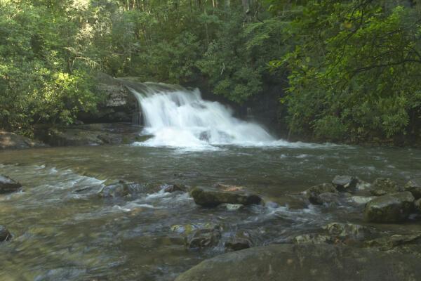 Hemlock Falls, side view