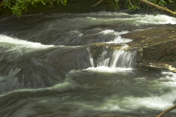 Downstream from the falls