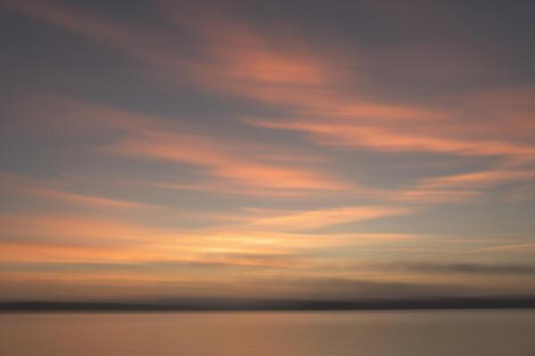 Abstract sunrise on Lake Lanier