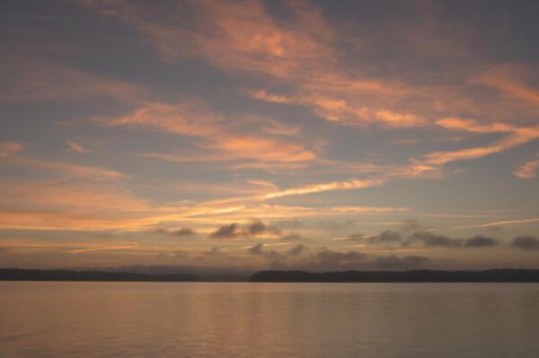 Actual sunrise on Lake Lanier