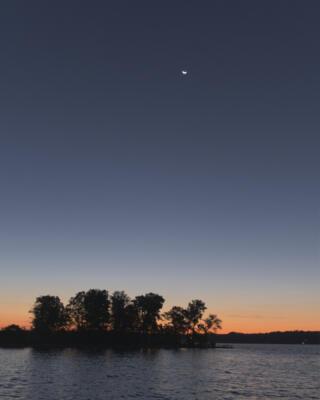 Moon over Lake Lanier